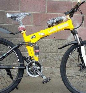 Велосипед складной Land Rover желтый