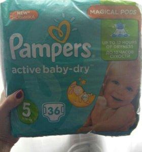 Подгузники Pampers active baby-dry 11-18 кг #5