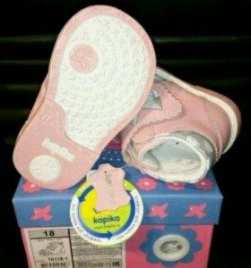 Ботинки для девочки 18 размера