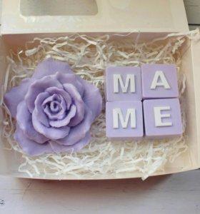 Подарочный набор ручной работы мыло маме