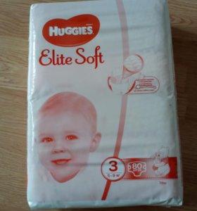 Продам подгузники Haggies Elite Soft