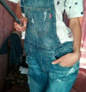 Комбинезон джинс.