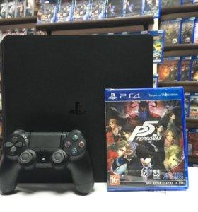 PlayStation 4 Slim 500 gb б/у + игра