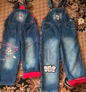 джинсовый комбинезон на девочку