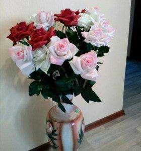 Новые искусственные розы высокие
