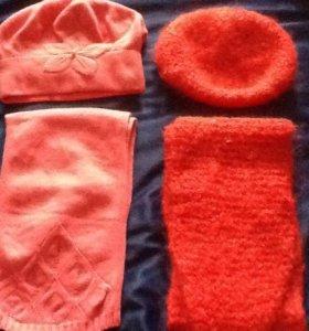 Комплекты- беретик и шарфик