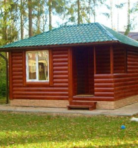 Дачный домик 6х6 из блок-хауса