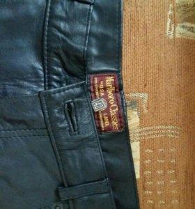 Новые кожаные брюки мужские.Marlboro Classics.