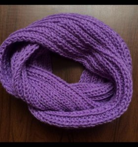 фиолетовый снуд ручная вязка