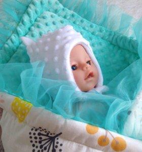 Шапочка для новорождённого малыша 👼🏼