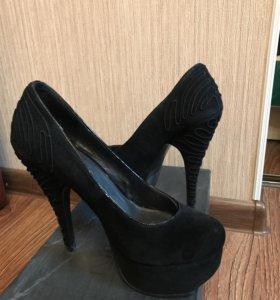Натуральные замшевые туфли (Vasconte)