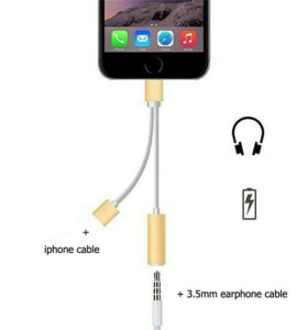 2 в 1 для iPhone. Зарядное устройство и AUX