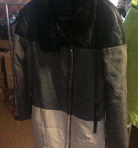 Пальто утепленное дизайнерское  46-48р новое