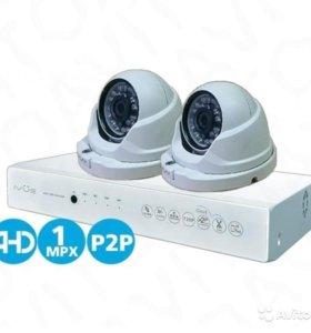 Комплект видеонаблюдения AHD на 2 камеры