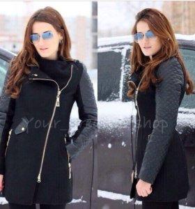 Теплое пальто с мехом