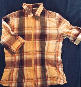 рубашка в клетку клетчатая 46-48 обмен