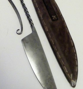 Нож кованый, ручная работа, возможен обмен