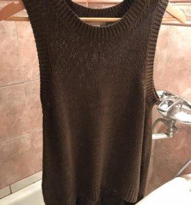 Туника-свитер H&M хаки