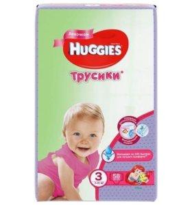 Трусики подгузники Huggies для девочек