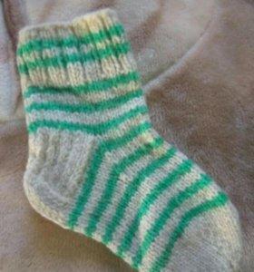 Носочки вязаные шерсть, детские. 4-5лет