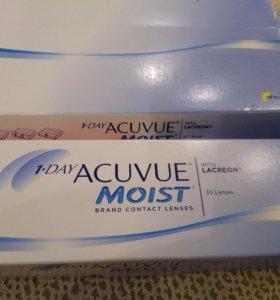 1 Day Acuvue moist with lacreon однодневные линзы