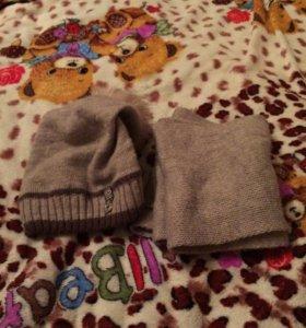 Шапка и шарф зима