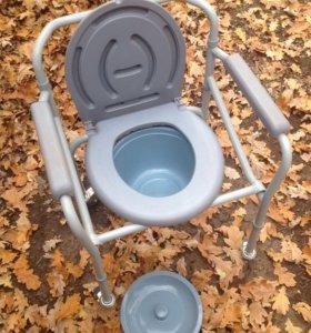 Кресло-туалет на колёсиках НОВОЕ!