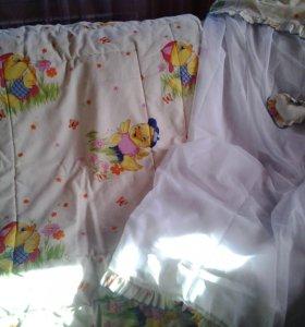 одеяло, балдахин на кроватку