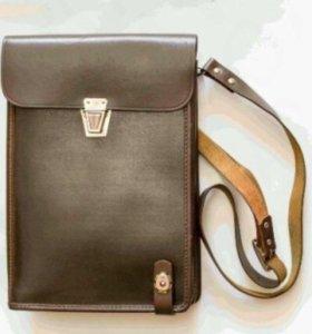 Командирская сумка (планшет)новая, кожаная