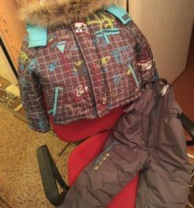 Костюм зимний куртка и полукомбинезон