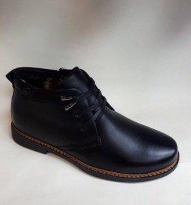 Новые мужские туфли зима
