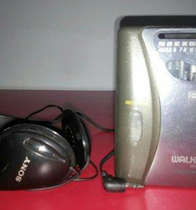 Плеер кассетный+ радио и наушники