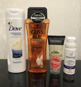 Dove, john Frieda, gliss kur