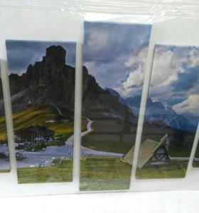 Картины из 5- ти модулей Природа