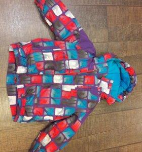 Куртка зимняя на девочку, размер 98/104