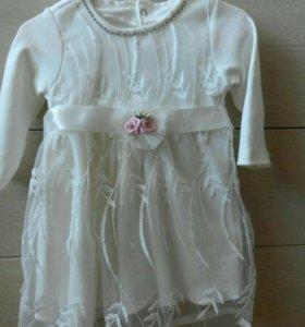 Нарядное платье для девочки, р. 68-74