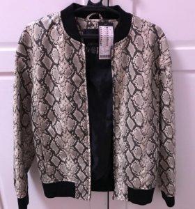 Куртка кожаная, новая р40-42