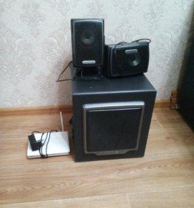 Колонки + саб + wi-fi