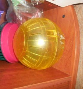 шар прогулочный для хомяков большой желтый