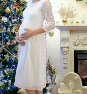Платье белое,подойдёт для беременных ,торг уместен