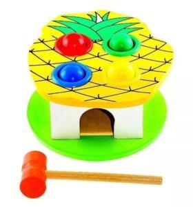 Стучалка деревянная игрушка