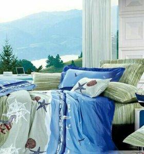 ✔Комплект двуспального постельного белья.