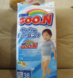 Трусики Goon, для мальчиков, 12-20 кг, XL, 38 шт.