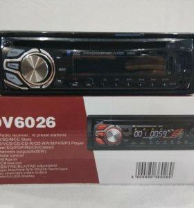 Магнитола Pioneer CD, DVD, MP3, USB, SD, AUX