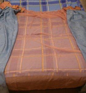 Готовые шторы и тюль для кухни.