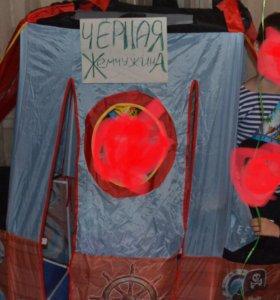 Продам игровую палатку пиратский корабль
