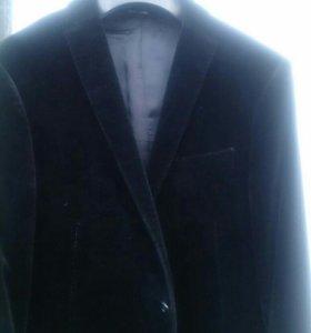 Пиджак бархатный черный De Rossi