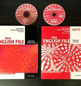 The English File Elementary учебник, тетрадь и CD