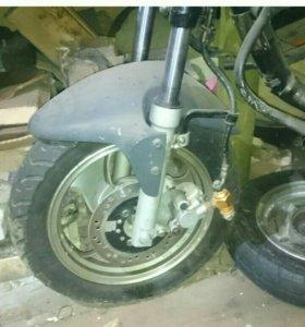 Вилка от венты с колесом и тормозом всборе
