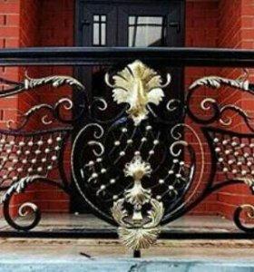 Кованые решетки ворота навесы